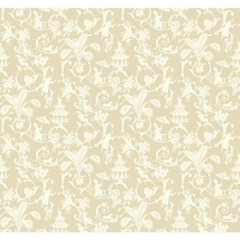 York Wallcoverings WP2408 Waverly Small Prints Palm Palace Wallpaper