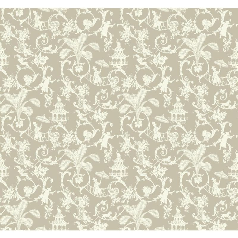 York Wallcoverings WP2409 Waverly Small Prints Palm Palace Wallpaper