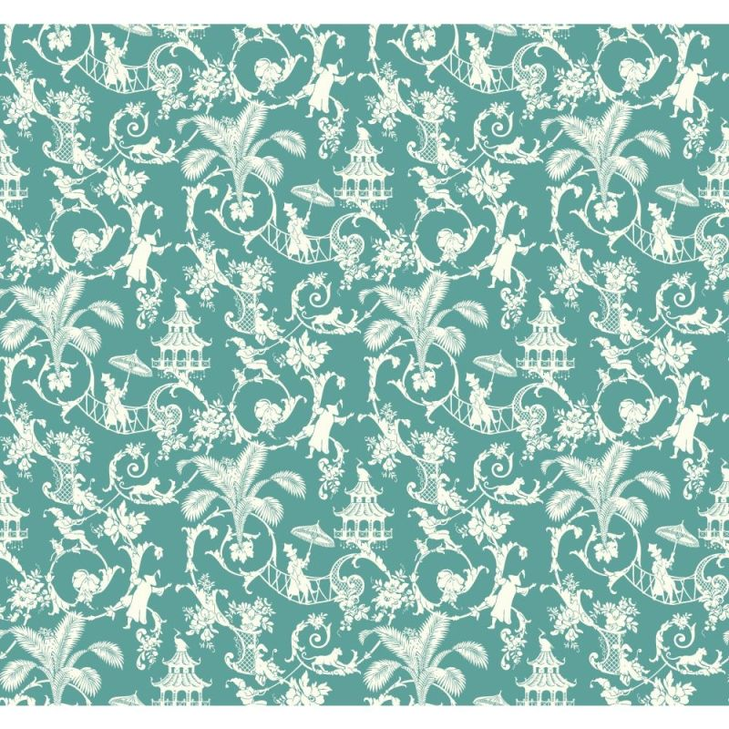 York Wallcoverings WP2410 Waverly Small Prints Palm Palace Wallpaper