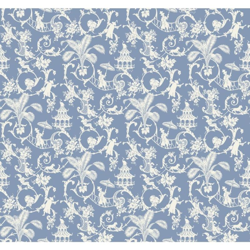 York Wallcoverings WP2411 Waverly Small Prints Palm Palace Wallpaper