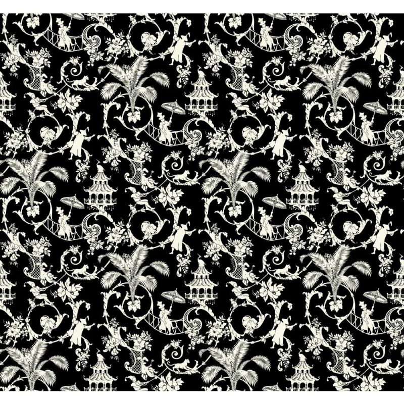 York Wallcoverings WP2414 Waverly Small Prints Palm Palace Wallpaper