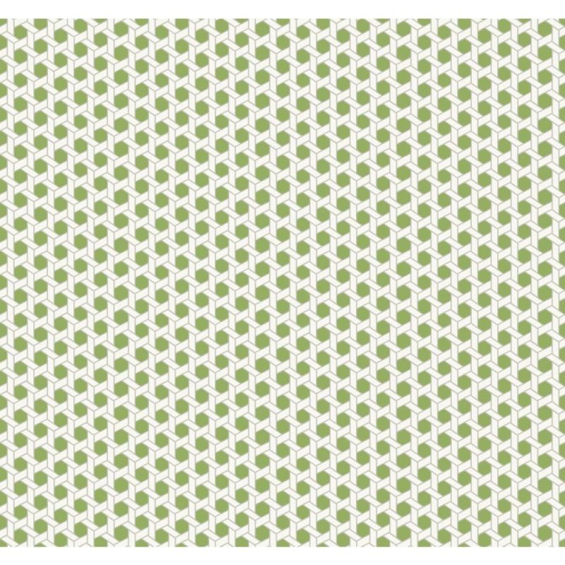 York Wallcoverings WP2473 Waverly Small Prints Shoji Wallpaper Lime