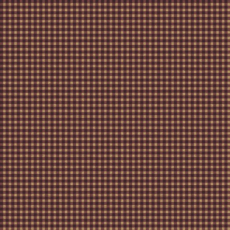York Wallcoverings YC3431 Gingham Wallpaper Cranberry Red / Medium Red