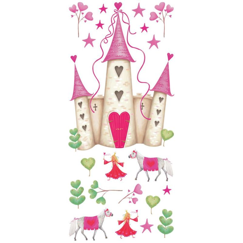 York Wallcoverings YH1328M RoomMates Princess Castle Peel & Stick Wall