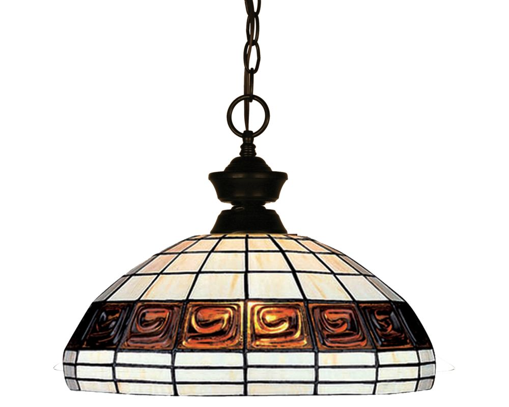 Z-Lite 100701-F14-1 1 Light Full Sized Pendant with Multi-Colored