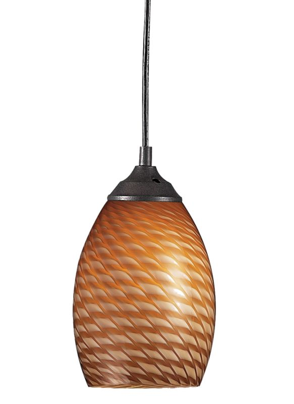 Z-Lite 131 Jazz 1 Light Mini Pendant Sand Black / Carmel Indoor