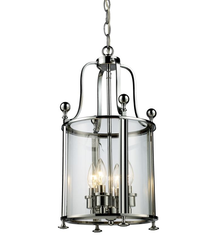 Z-Lite 134-4 Wyndham 4 Light Full Sized Pendant with Clear Shade