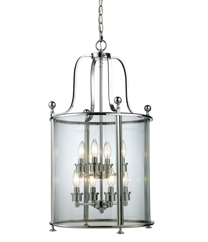 Z-Lite 134-8 Wyndham 8 Light Full Sized Pendant with Clear Shade