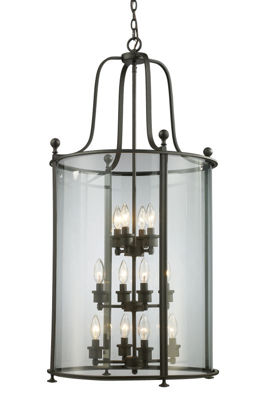 Z-Lite 135-12 Wyndham 12 Light Full Sized Pendant with Clear Shade
