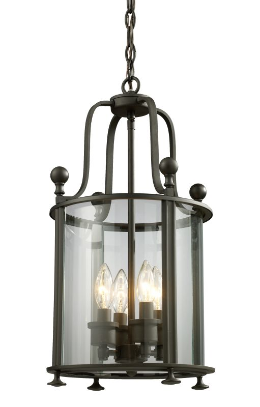 Z-Lite 135-4 Wyndham 4 Light Full Sized Pendant with Clear Shade