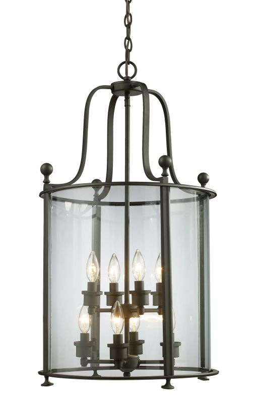 Z-Lite 135-8 Wyndham 8 Light Full Sized Pendant with Clear Shade