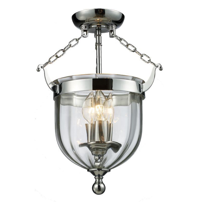 Z-Lite 137SF Warwick 3 Light Urn Pendant with Clear Shade Chrome Sale $314.00 ITEM: bci2240391 ID#:137SF UPC: 685659003857 :