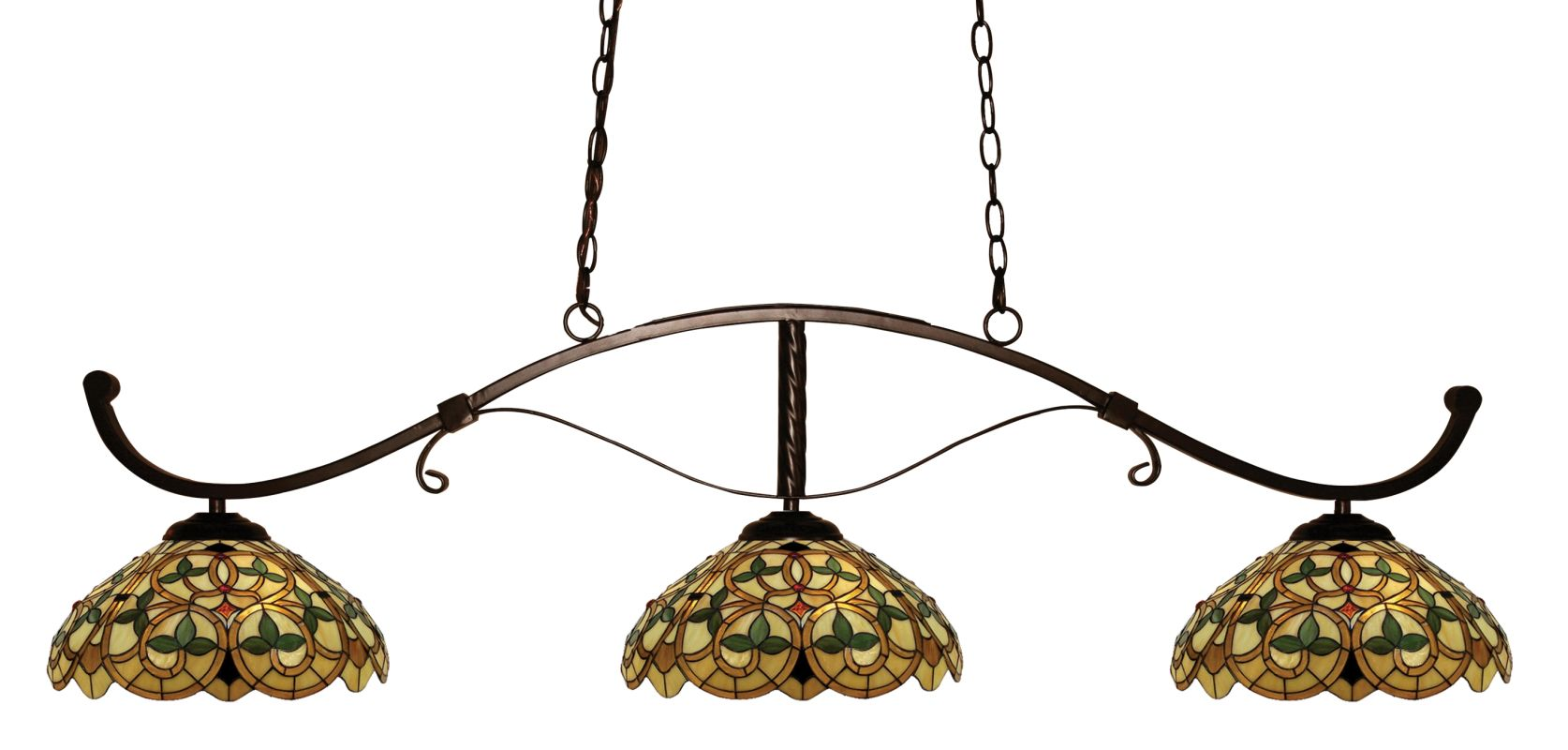Z-Lite 148-C14 Howler 3 Light Chandelier with Multi-Colored Tiffany Sale $904.00 ITEM: bci2519197 ID#:148BRZ-C14 UPC: 685659035018 :