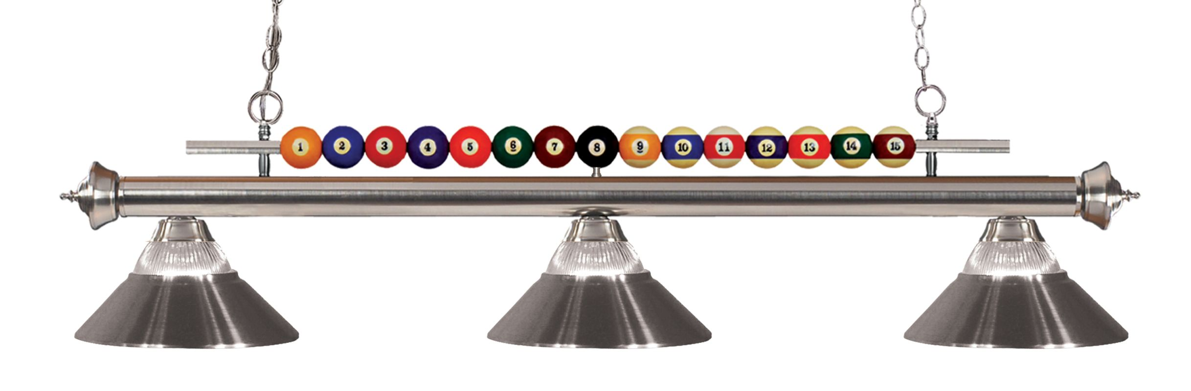 Z-Lite 170-R Shark 3 Light Billiard Chandelier with Clear Glass and Sale $514.00 ITEM: bci2630293 ID#:170BN-RBN UPC: 685659048544 :