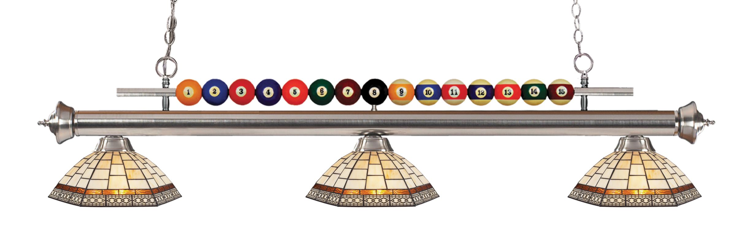 Z-Lite 170-Z14-35 Shark 3 Light Billiard Chandelier with Multi-Colored Sale $918.00 ITEM: bci2630305 ID#:170BN-Z14-35 UPC: 685659048667 :