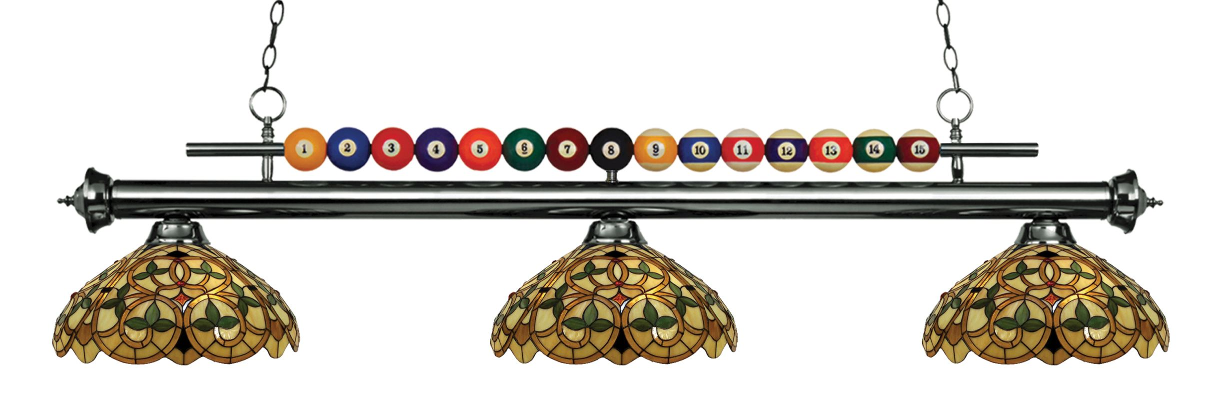 Z-Lite 170-C14 Shark 3 Light Billiard Chandelier with Multi-Colored Sale $1000.00 ITEM: bci2630317 ID#:170GM-C14 UPC: 685659048780 :