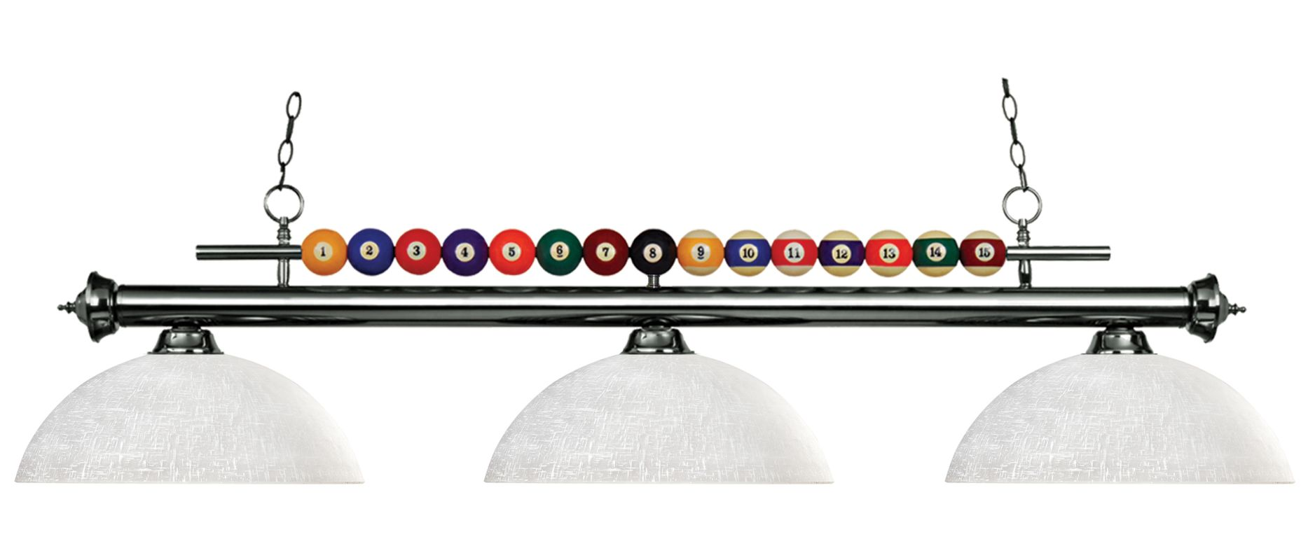 Z-Lite 170-DWL14 Shark 3 Light Billiard Chandelier with White Glass
