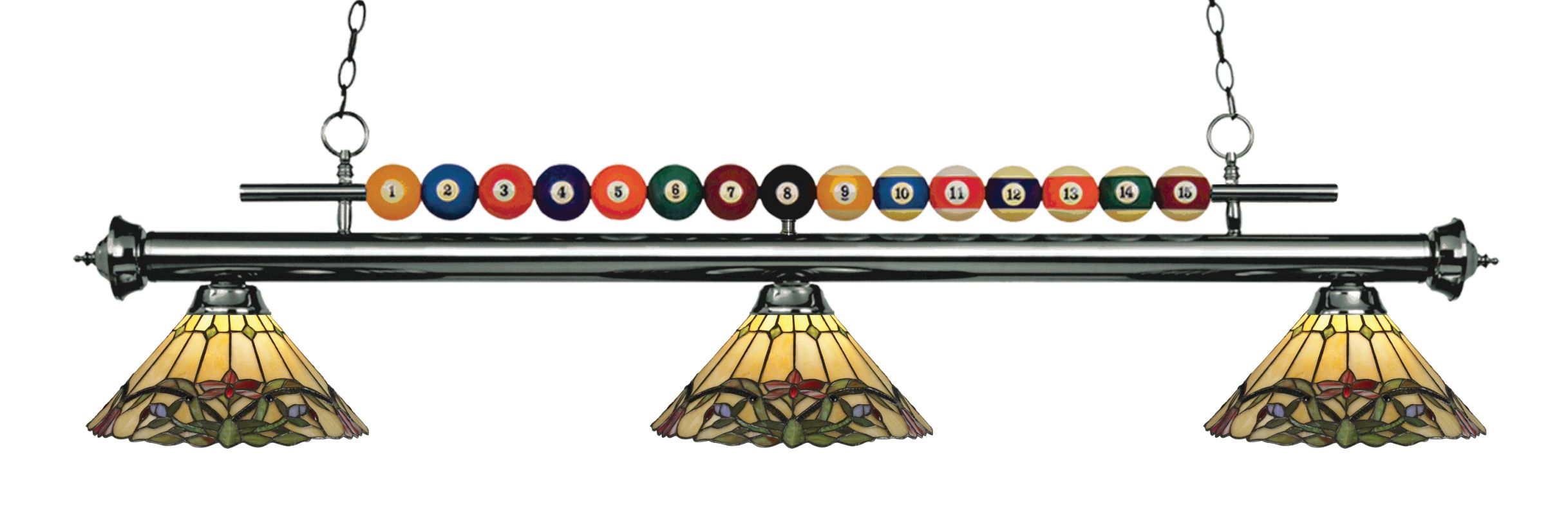 Z-Lite 170-Z14-49 Shark 3 Light Billiard Chandelier with Multi-Colored Sale $946.00 ITEM: bci2630346 ID#:170GM-Z14-49 UPC: 685659049077 :
