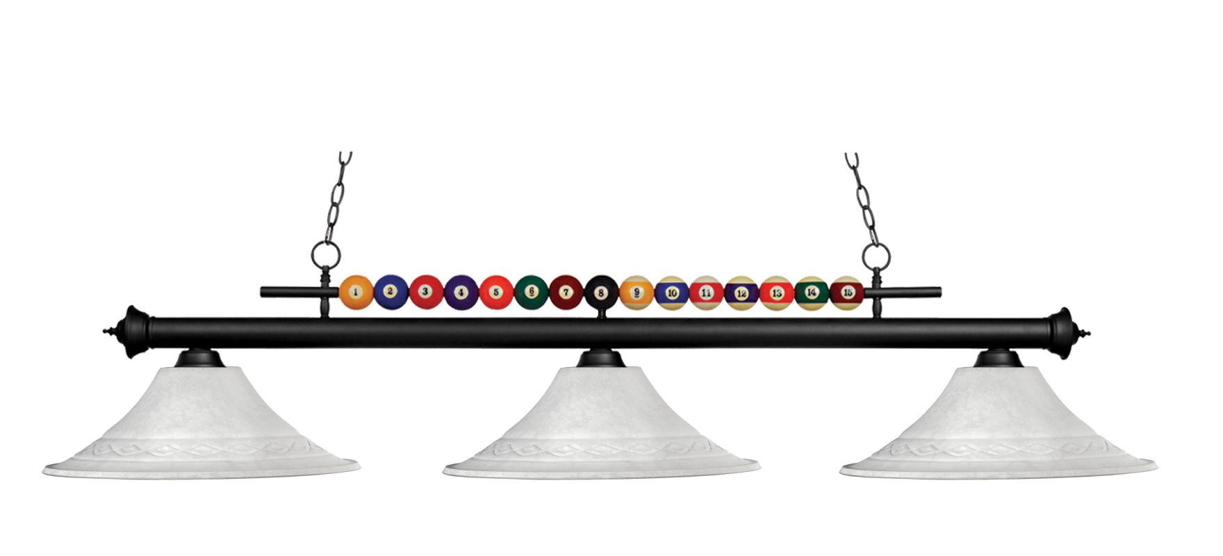 Z-Lite 170-FWM16 Shark 3 Light Chandelier with Glass Shade Matte Black Sale $494.00 ITEM: bci2519237 ID#:170MB-FWM16 UPC: 685659019872 :