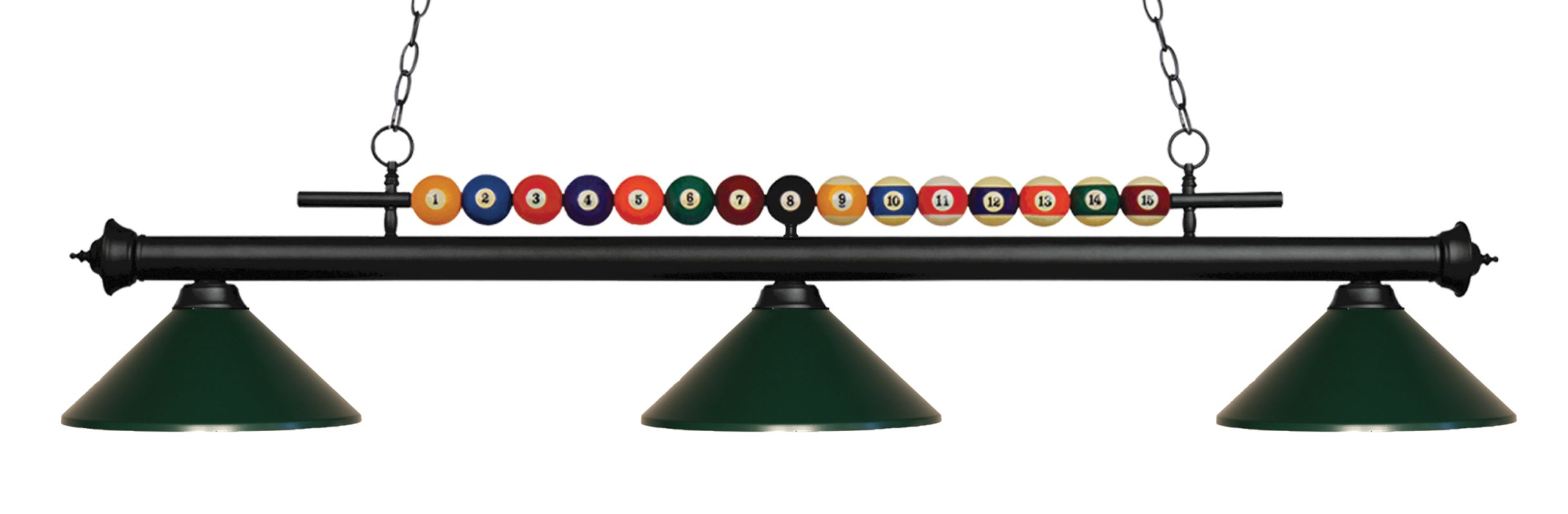 Z-Lite 170-MDG Shark 3 Light Billiard Chandelier with Green Metal Sale $434.00 ITEM: bci2630366 ID#:170MB-MDG UPC: 685659049275 :