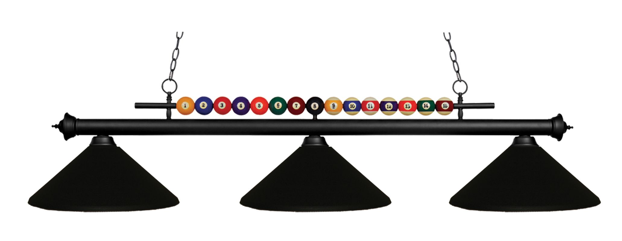 Z-Lite 170-MMB Shark 3 Light Billiard Chandelier with Black Metal Sale $434.00 ITEM: bci1826138 ID#:170MB-MMB UPC: 685659005967 :