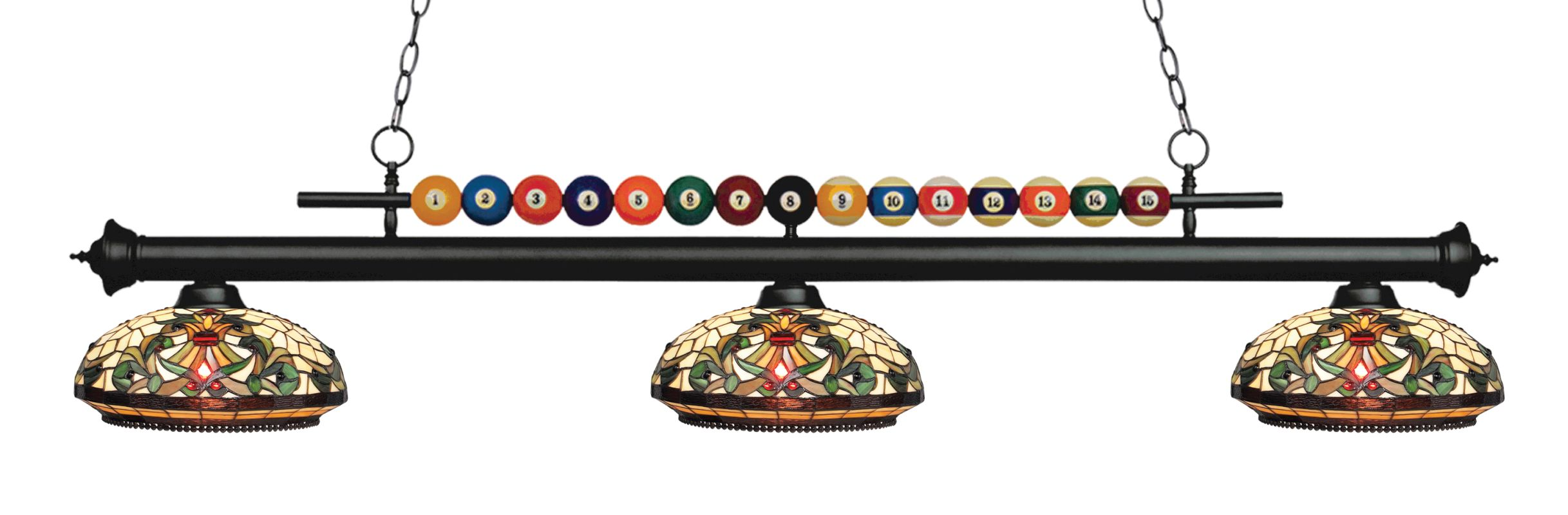 Z-Lite 170-Z14-34 Shark 3 Light Billiard Chandelier with Multi-Colored Sale $1018.00 ITEM: bci2630389 ID#:170MB-Z14-34 UPC: 685659049503 :