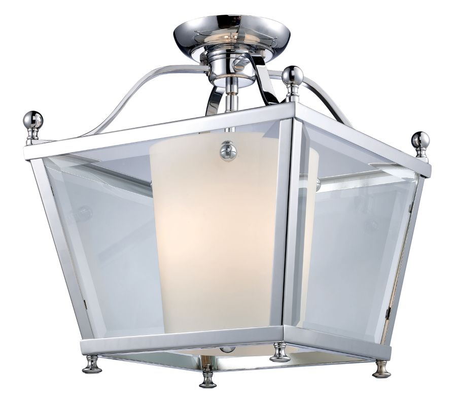 Z-Lite 178-3SF-M Ashbury 3 Light Semi-Flush Ceiling Fixture with Clear
