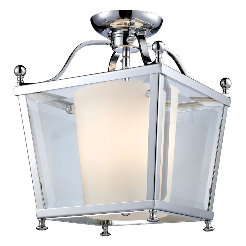 Z-Lite 178-3SF-S Ashbury 3 Light Semi-Flush Ceiling Fixture with Clear