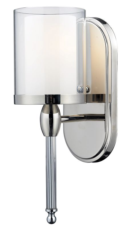 Z-Lite 1908-1S Argenta 1 Light Wall Sconce with Matte Opal Glass Shade