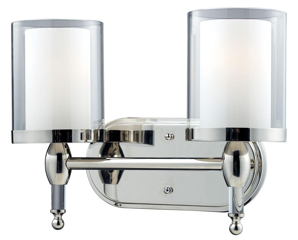 Z-Lite 1908-2V Argenta 2 Light Bathroom Vanity Light with Matte Opal
