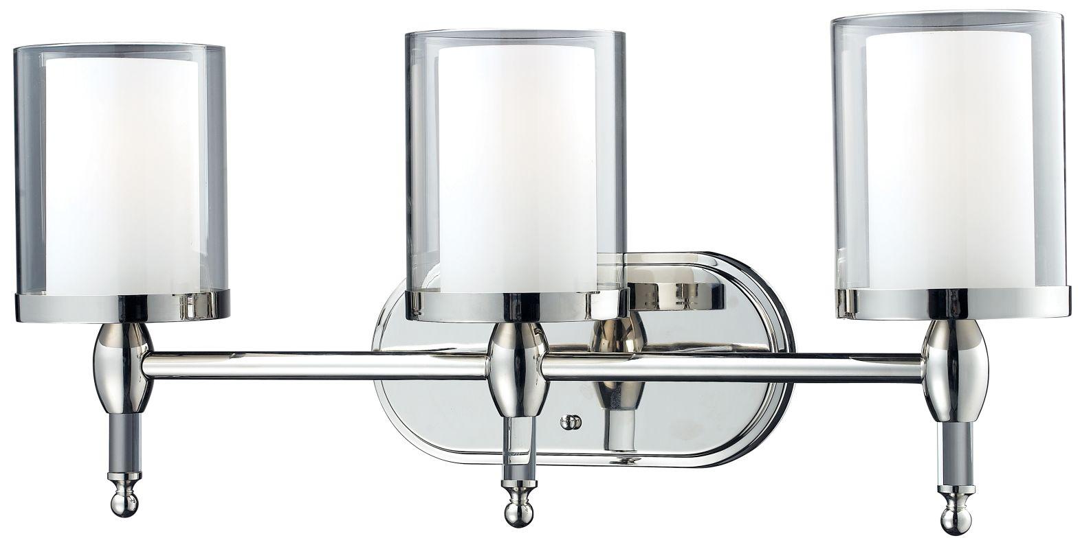Z-Lite 1908-3V Argenta 3 Light Bathroom Vanity Light with Matte Opal