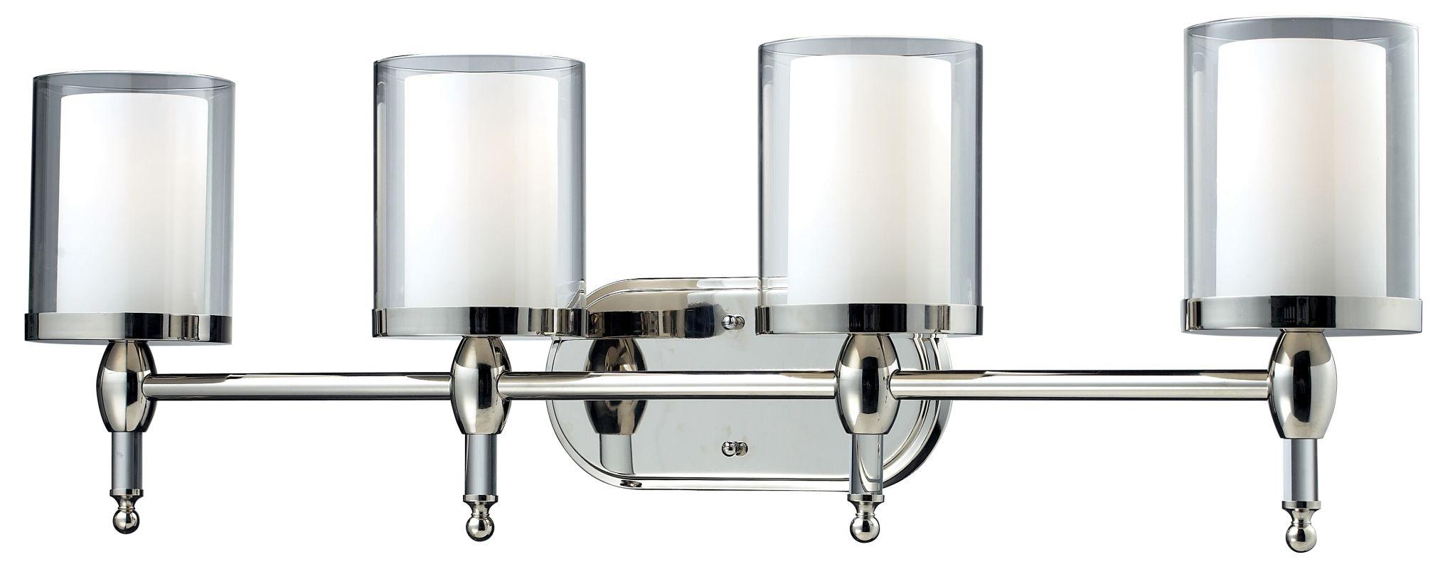 Z-Lite 1908-4V Argenta 4 Light Bathroom Vanity Light with Matte Opal