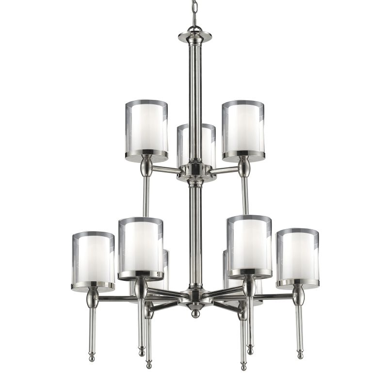 Z-Lite 1908-9 Argenta 9 Light 2 Tier Chandelier with Matte Opal Glass Sale $1300.00 ITEM: bci2219836 ID#:1908-9 UPC: 685659022247 :