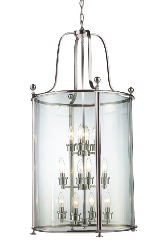Z-Lite 191-12 Wyndham 12 Light Full Sized Pendant with Clear Shade