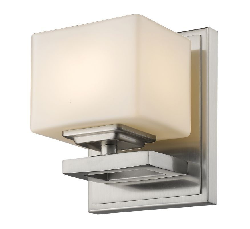 Z-Lite 1914-1S Cuvier 1 Light Bathroom Sconce Brushed Nickel Indoor