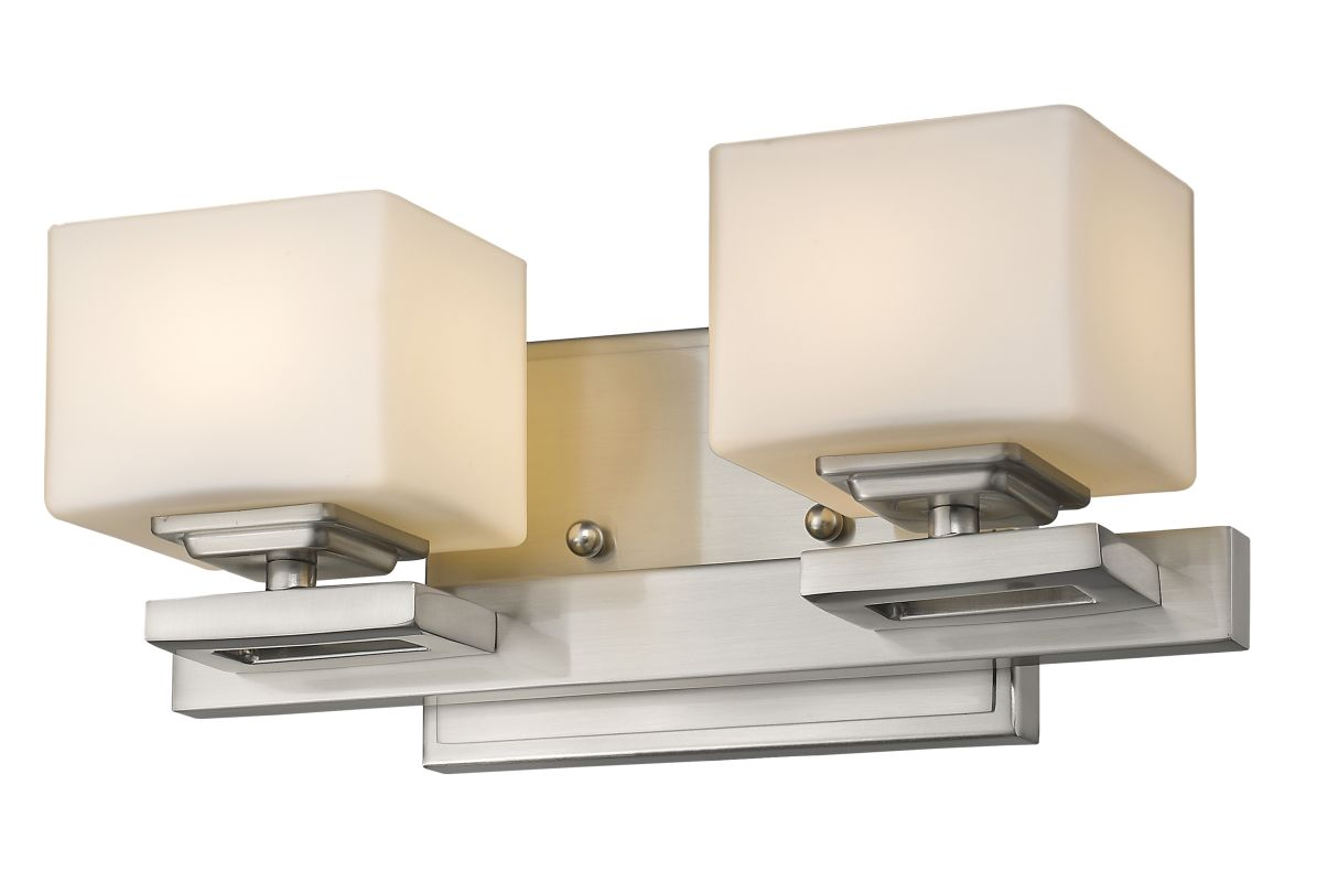 Z-Lite 1914-2V Cuvier 2 Light Bathroom Vanity Fixture Brushed Nickel