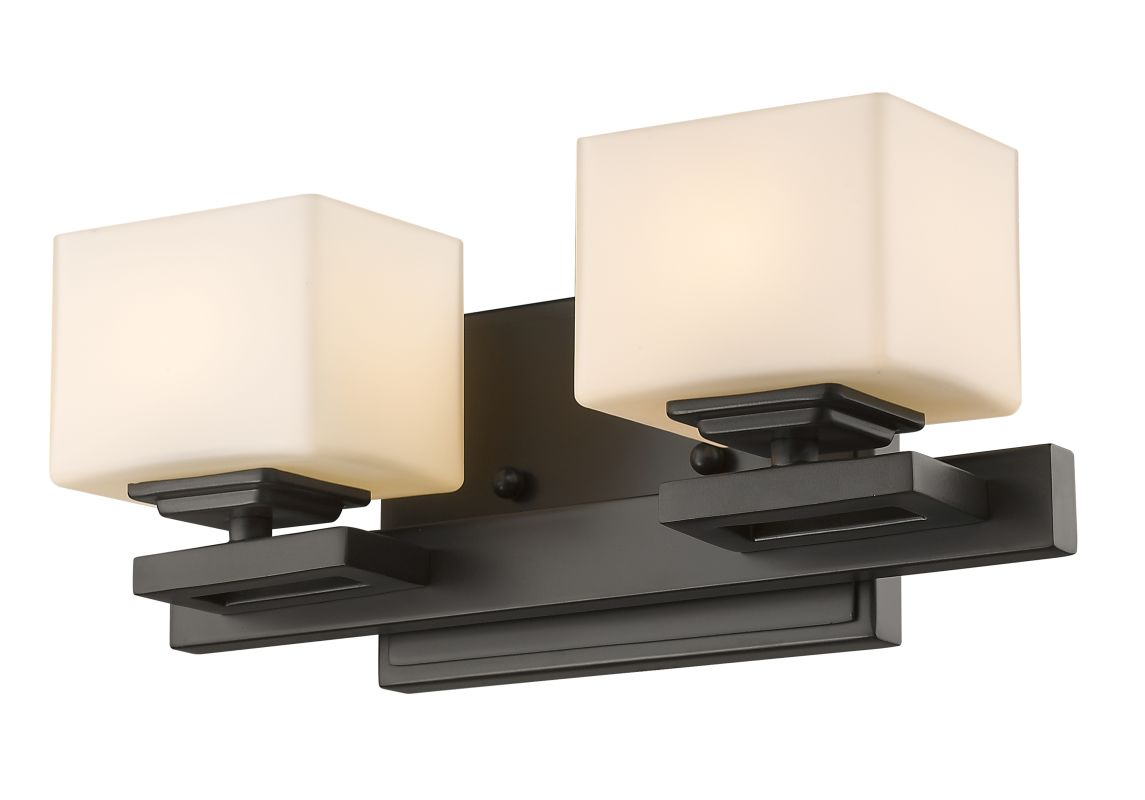 Z-Lite 1914-2V Cuvier 2 Light Bathroom Vanity Fixture Bronze Indoor