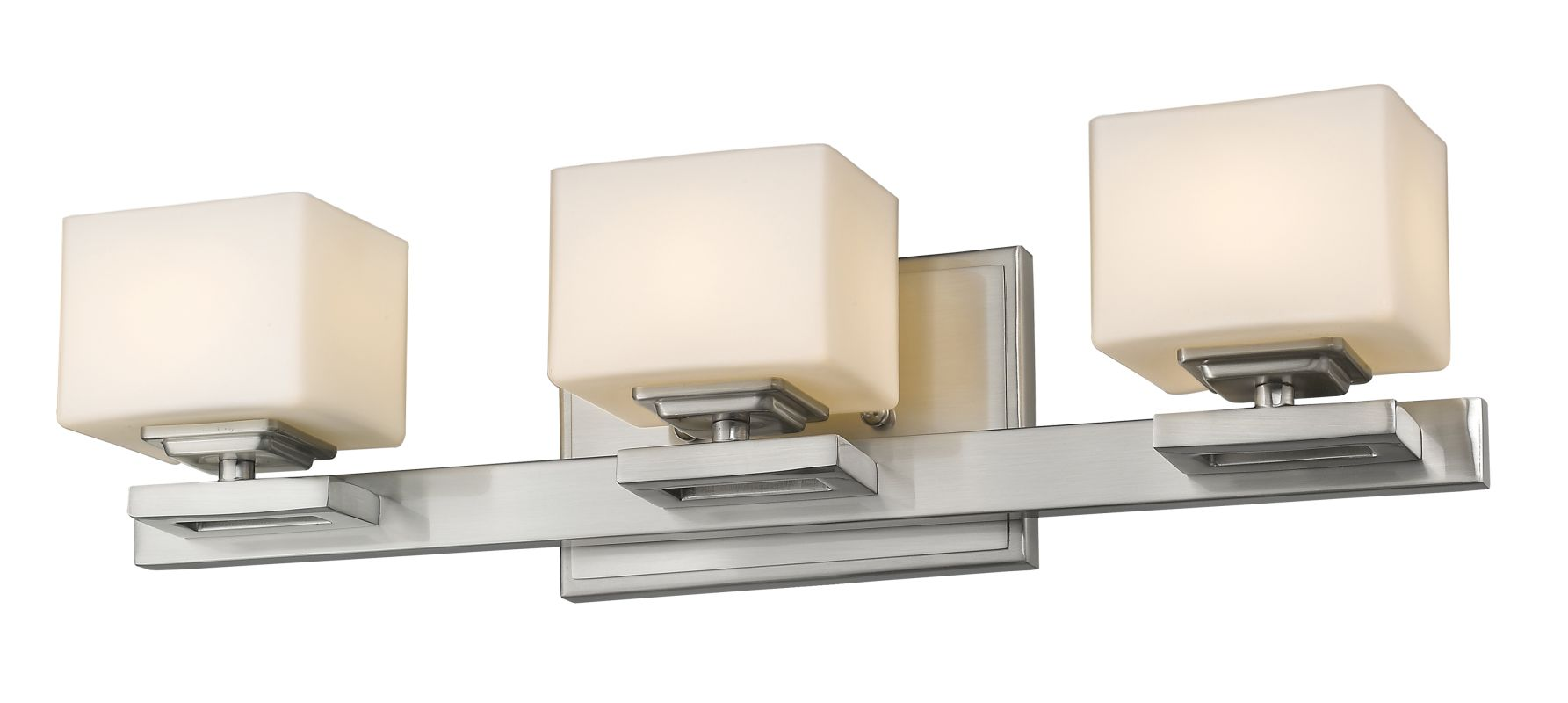 Z-Lite 1914-3V Cuvier 3 Light Bathroom Vanity Fixture Brushed Nickel