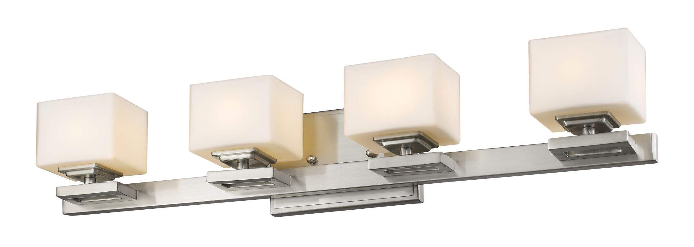 Z-Lite 1914-4V Cuvier 4 Light Bathroom Vanity Fixture Brushed Nickel