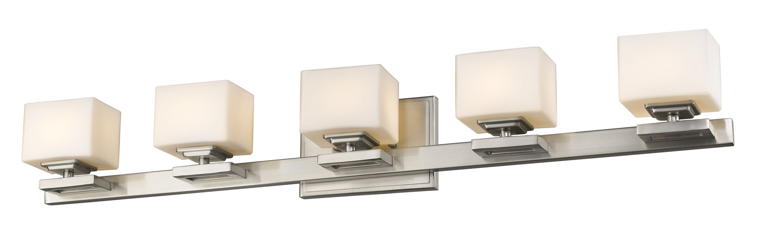 Z-Lite 1914-5V Cuvier 5 Light Bathroom Vanity Fixture Brushed Nickel