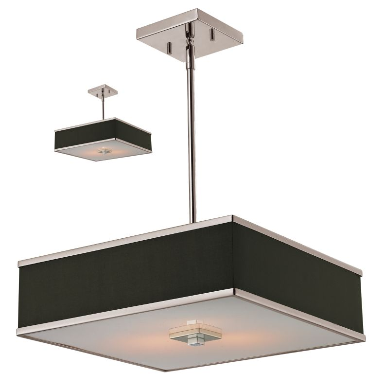 Z-Lite 197-16 Rego 3 Light Full Sized Pendant with Chocolate Shade