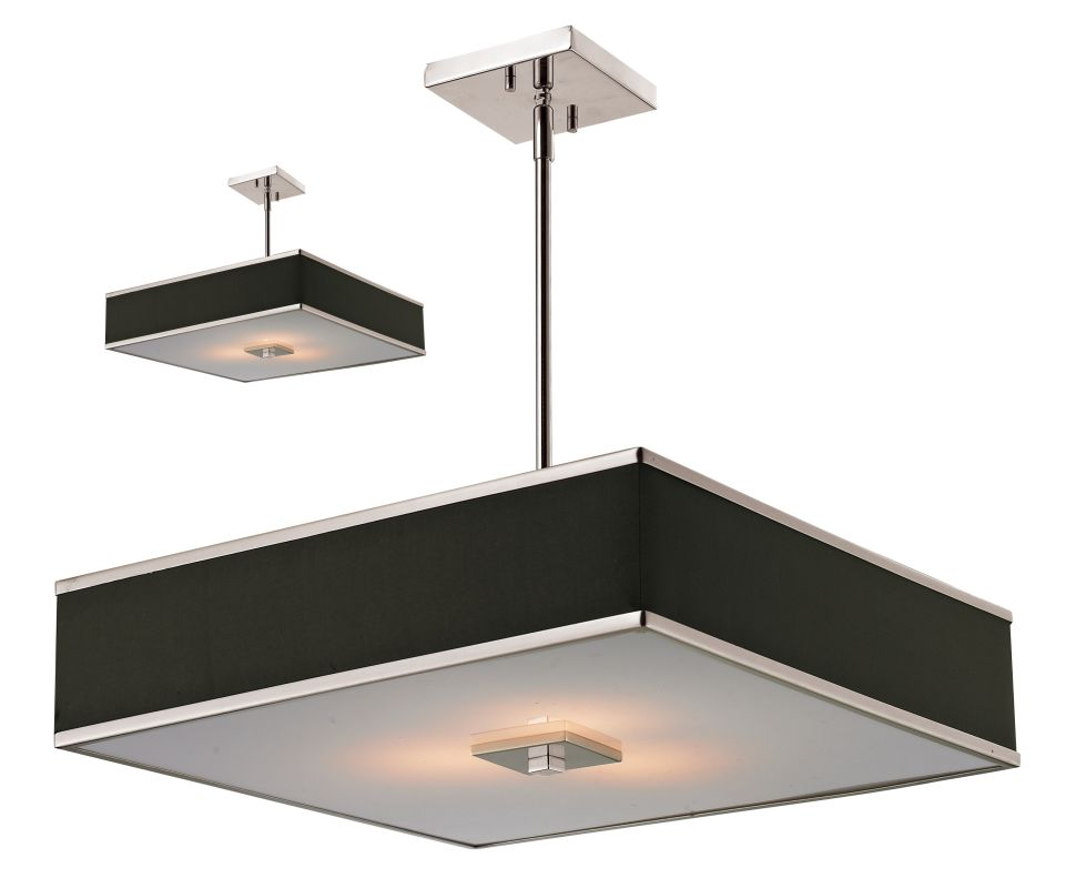 Z-Lite 197-20 Rego 3 Light Full Sized Pendant with Chocolate Shade