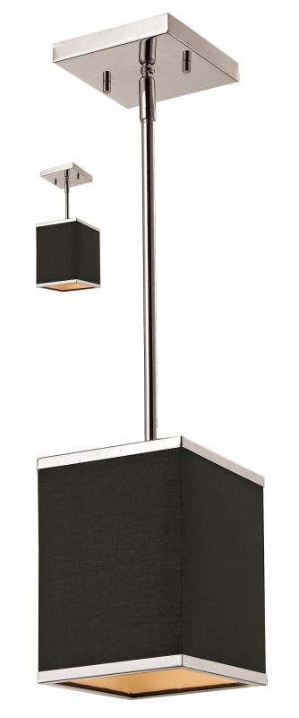 Z-Lite 197-6 Rego 1 Light Mini Pendant with Chocolate Shade Brushed