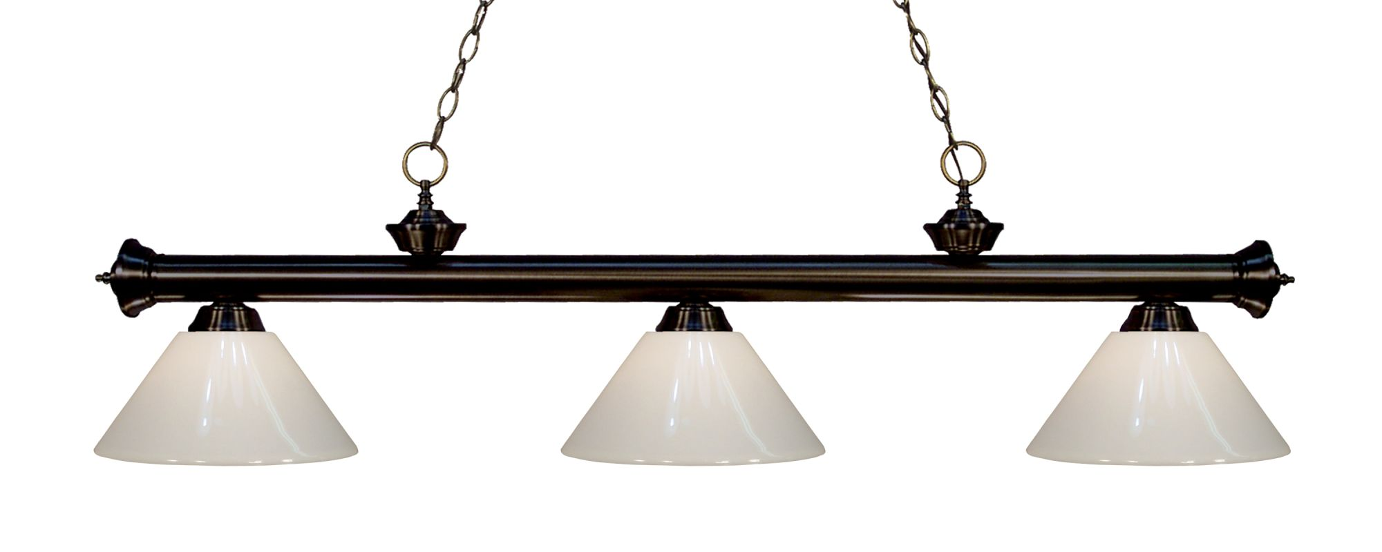 Z-Lite 200-3-PWH Riviera 3 Light Island/Billiard Chandelier with White Sale $242.00 ITEM: bci2566338 ID#:200-3BRZ-PWH UPC: 685659043747 :