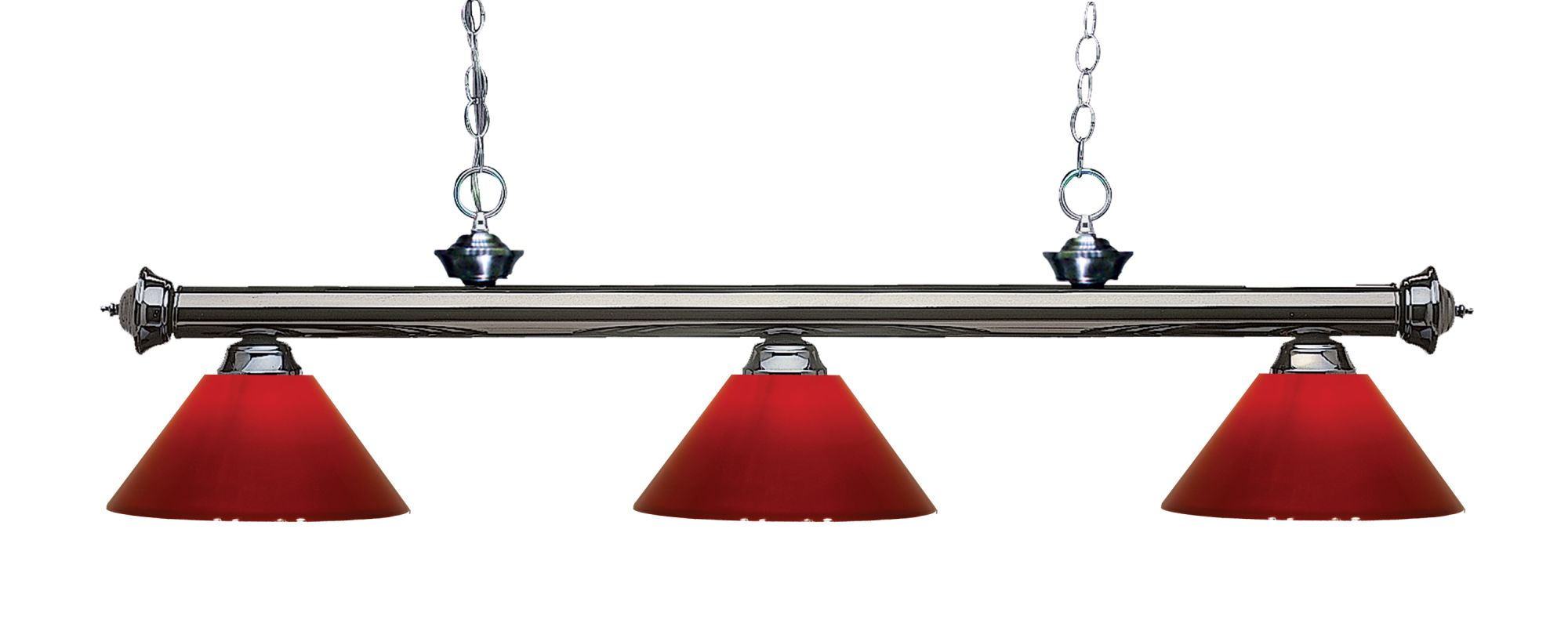 Z-Lite 200-3-PRD Riviera 3 Light Island/Billiard Chandelier with Red Sale $296.00 ITEM: bci2566380 ID#:200-3GM-PRD UPC: 685659044164 :