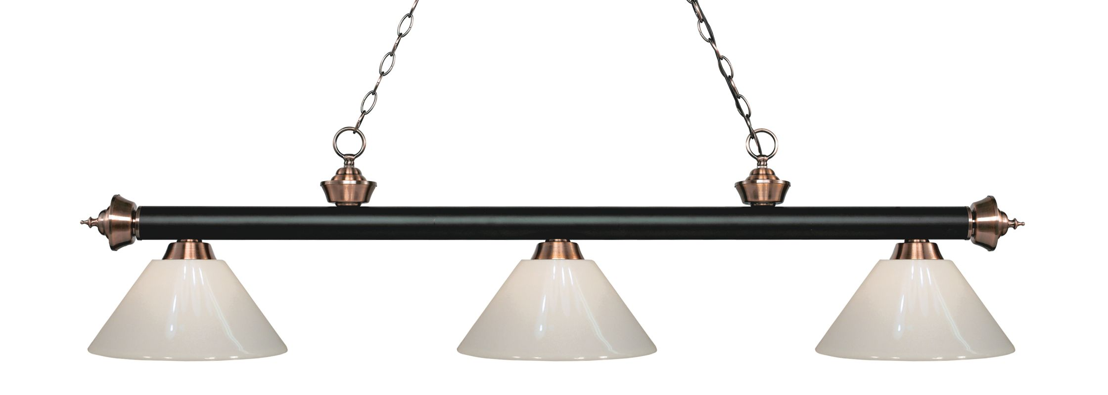 Z-Lite 200-3-PWH Riviera 3 Light Island/Billiard Chandelier with White Sale $296.00 ITEM: bci2734553 ID#:200-3MB+AC-PWH UPC: 685659053388 :