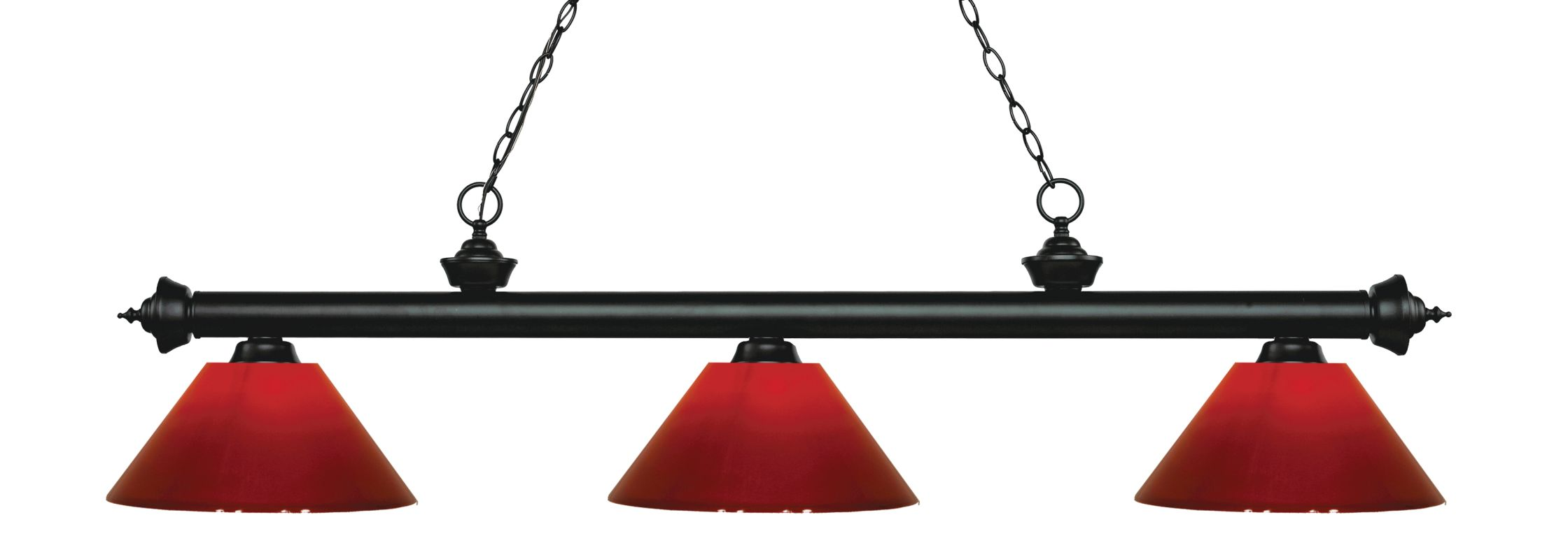 Z-Lite 200-3-PRD Riviera 3 Light Island/Billiard Chandelier with Red Sale $242.00 ITEM: bci2734658 ID#:200-3MB-PRD UPC: 685659054378 :