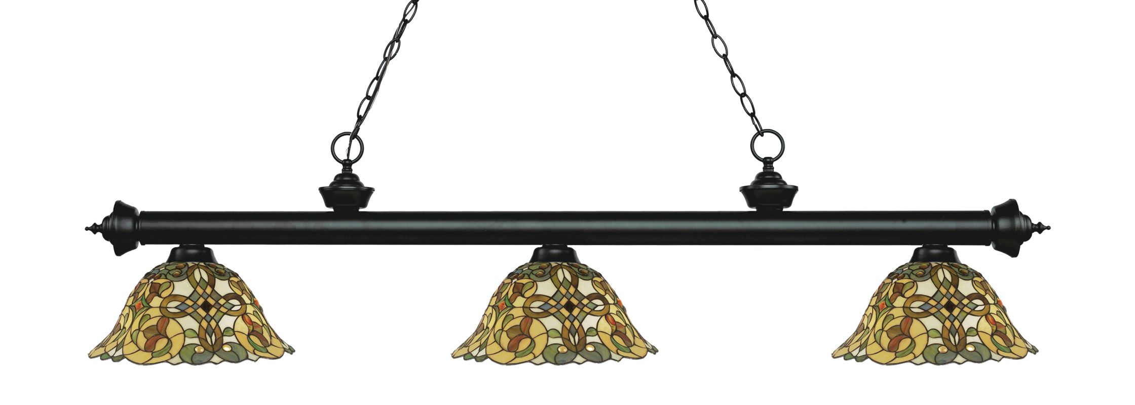 Z-Lite 200-3-R14A Riviera 3 Light Island/Billiard Chandelier with Sale $788.00 ITEM: bci2734660 ID#:200-3MB-R14A UPC: 685659054392 :