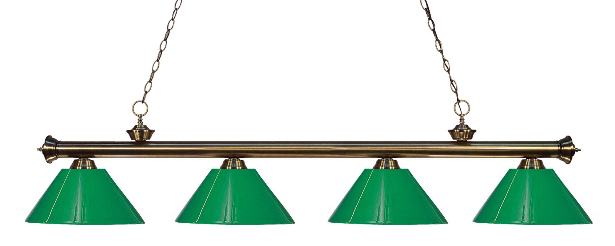 Z-Lite 200-4-PGR Riviera 4 Light Island/Billiard Light with Green Sale $398.00 ITEM: bci2564568 ID#:200-4AB-PGR UPC: 685659040937 :