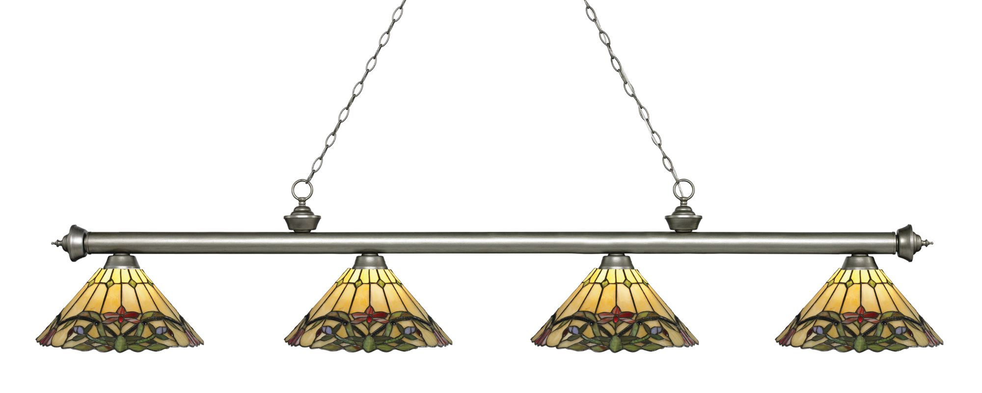 Z-Lite 200-4-Z14-49 Riviera 4 Light Island/Billiard Light with Sale $1026.00 ITEM: bci2758234 ID#:200-4AS-Z14-49 UPC: 685659059335 :
